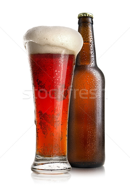 Red beer and bottle Stock photo © Givaga