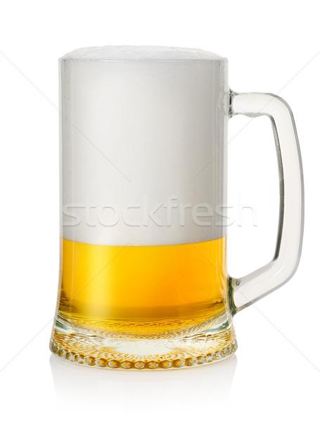 Kupa alman birası bira yalıtılmış beyaz cam Stok fotoğraf © Givaga