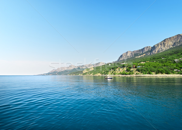 Blue bay in mountains Stock photo © Givaga