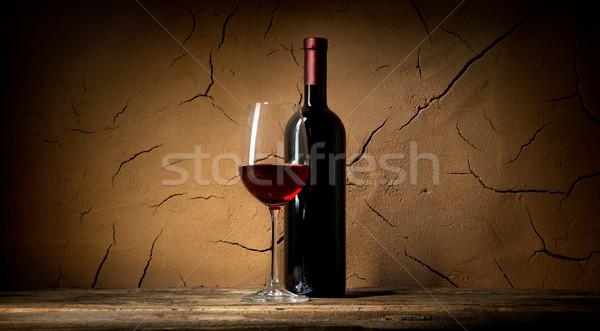 глина стены вино погреб аннотация Сток-фото © Givaga