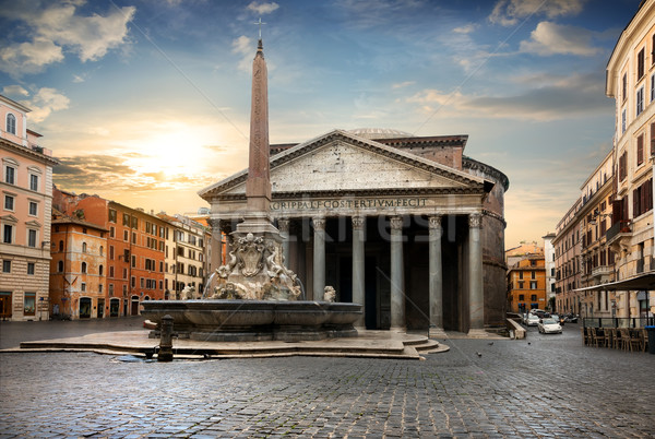 Pantheon in Rome, Italy Stock photo © Givaga