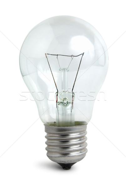 Light bulb on white Stock photo © Givaga