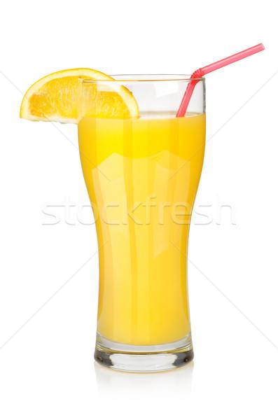 Portakal suyu büyük cam yalıtılmış beyaz Stok fotoğraf © Givaga