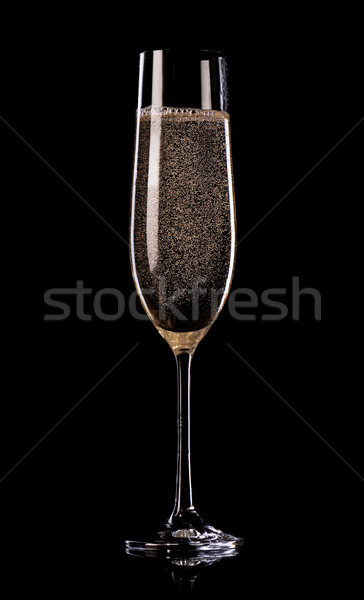 Champagne on black background Stock photo © Givaga