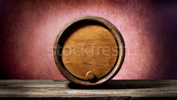 Barrel on pink Stock photo © Givaga
