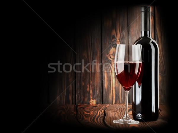 Stok fotoğraf: şarap · kadehi · ahşap · şarap · cam