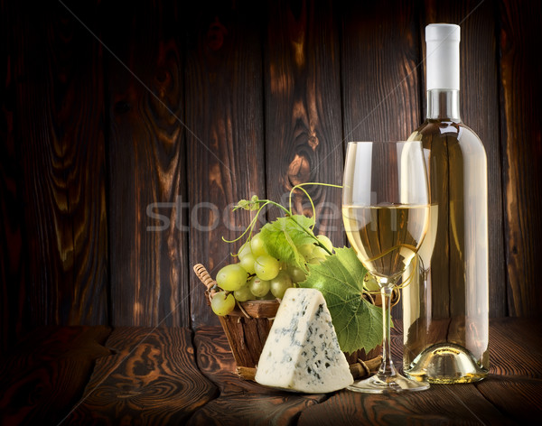 White wine and blue cheese Stock photo © Givaga