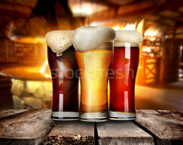 Beer in bar Stock photo © Givaga