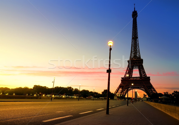 Sunrise in Paris Stock photo © Givaga