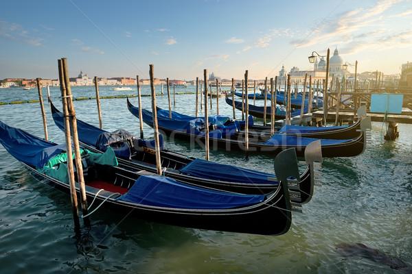 Veneziano pôr do sol canal Veneza Itália água Foto stock © Givaga