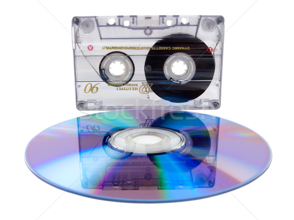 Audio tape cassette and digital compact disc Stock photo © Givaga