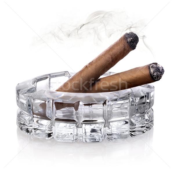 Cigars in ashtray Stock photo © Givaga
