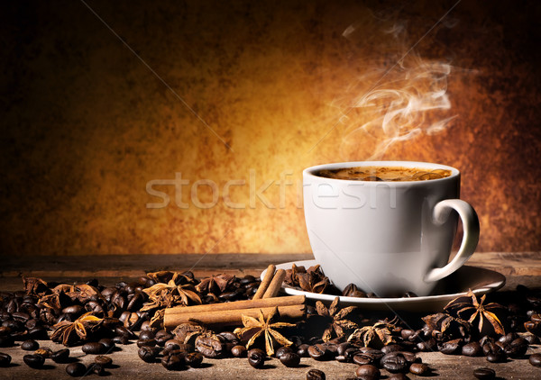 Cup of coffee with spices Stock photo © Givaga