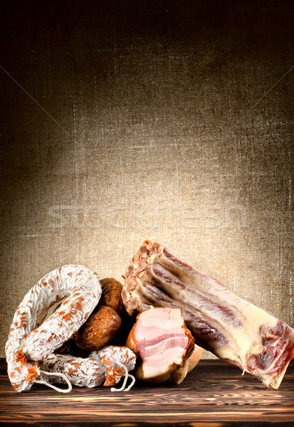 Meats on the table Stock photo © Givaga