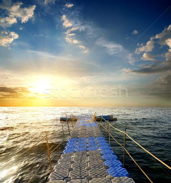 Pontoon in the sea Stock photo © Givaga