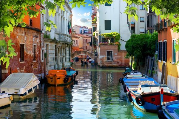 Verão Veneza rua Itália casa Foto stock © Givaga