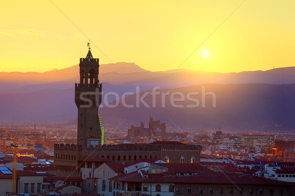 Torre ver florence Itália edifício cidade Foto stock © Givaga