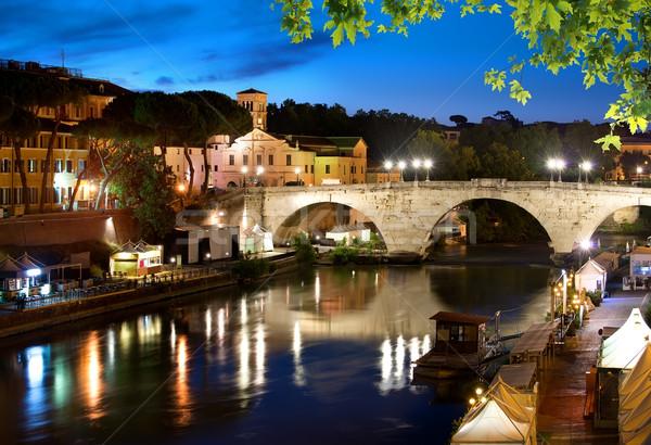 Bridge Cestio in Rome Stock photo © Givaga
