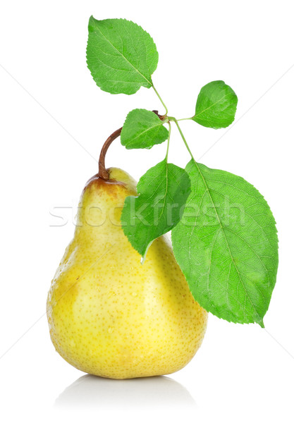 Pear with Leafs Stock photo © Givaga