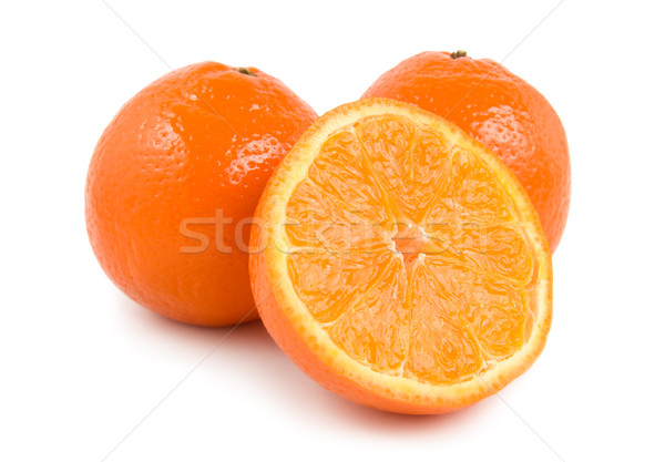 Three perfectly fresh oranges Stock photo © Givaga
