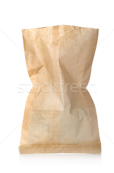 Empty paper bag isolated Stock photo © Givaga