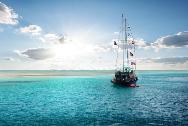 Yacht near island Stock photo © Givaga