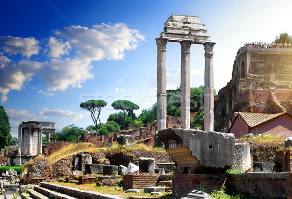Ruins of Roman Forum Stock photo © Givaga
