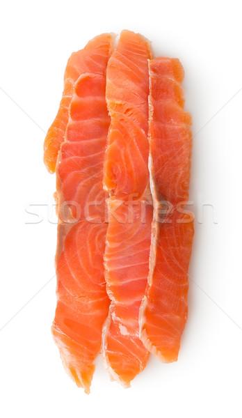 赤 魚 フィレット 孤立した 白 市場 ストックフォト © Givaga