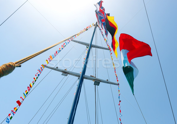 Flags on mast Stock photo © Givaga