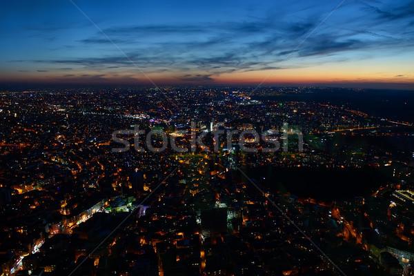 Aerial night panoramic Stock photo © Givaga