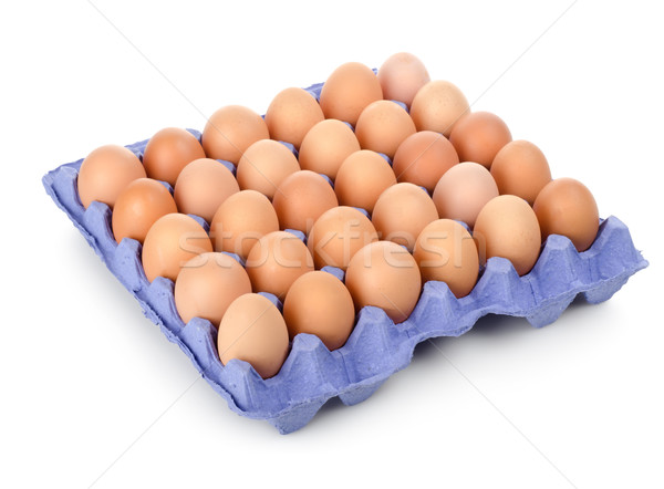 Eggs in a carton isolated Stock photo © Givaga
