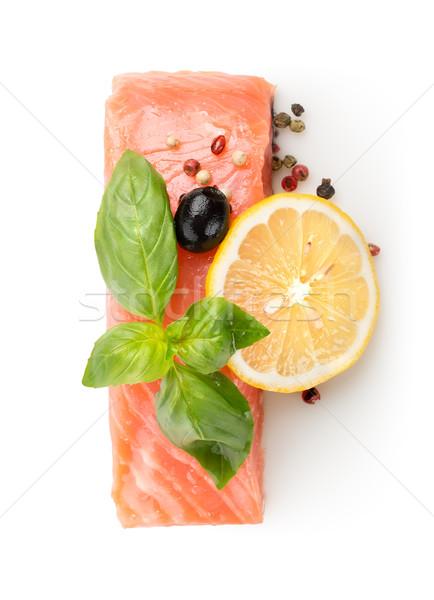 Filetto salmone limone oliva spezie alimentare Foto d'archivio © Givaga