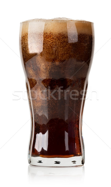 Cola with ice cubes isolated Stock photo © Givaga