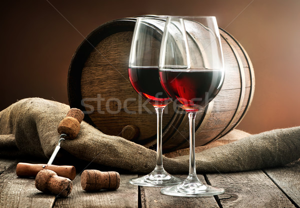 Composition with wine Stock photo © Givaga