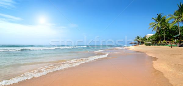 Stock photo: Waves on sandy beach