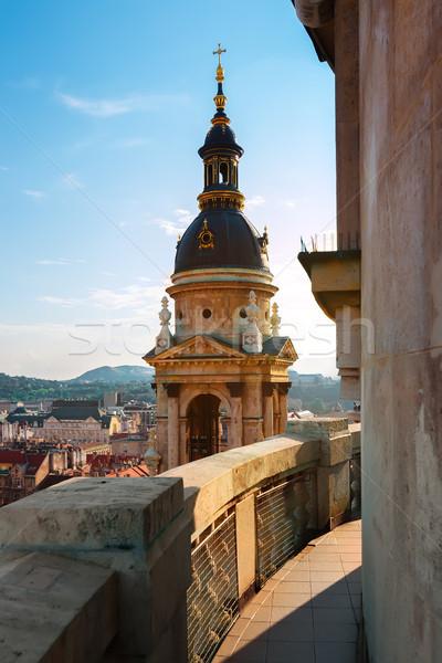 表示 ブダペスト バシリカ ハンガリー 太陽 青 ストックフォト © Givaga