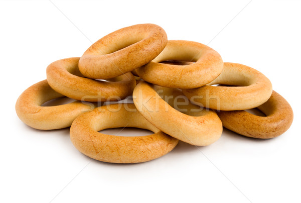 Bagels isolated on a white Stock photo © Givaga