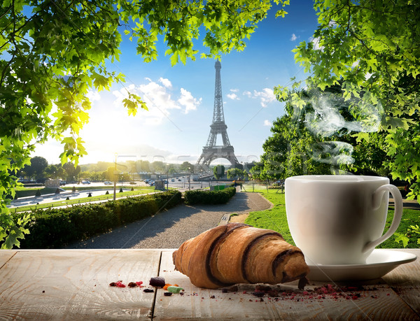 Stock photo: Traditional parisian breakfast