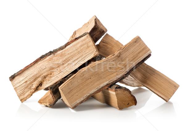 薪 孤立した 白 ツリー 木材 ストックフォト © Givaga