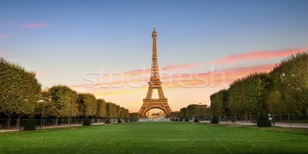 Eiffel Tower and alley Stock photo © Givaga