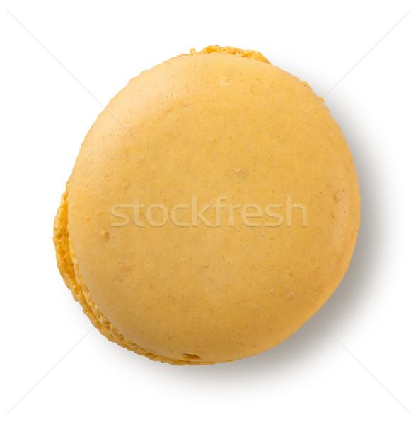 желтый macaron изолированный лимона белый продовольствие Сток-фото © Givaga