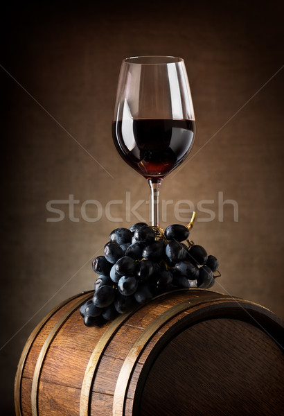 Wine goblet and barrel Stock photo © Givaga