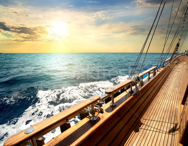 Sailboat in the sea Stock photo © Givaga