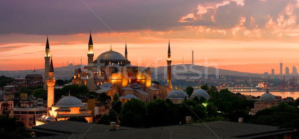 Стамбуле мнение музее Cityscape Восход здании Сток-фото © Givaga