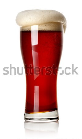 Froth on red beer Stock photo © Givaga