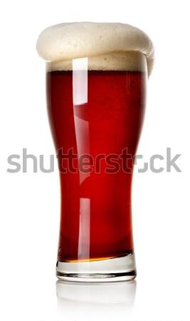 Stockfoto: Rood · bier · geïsoleerd · witte · partij · bar