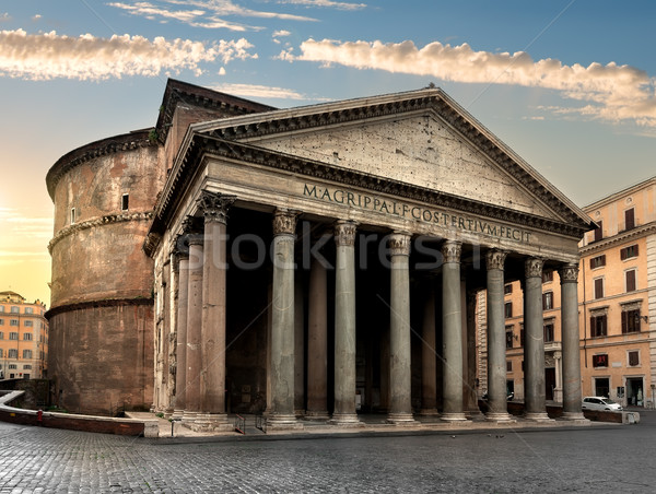 Pantheon in Rome at sunrise Stock photo © Givaga