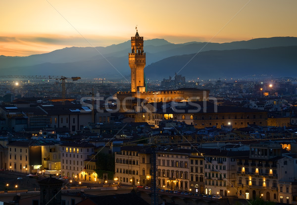 Early morning in Florence Stock photo © Givaga