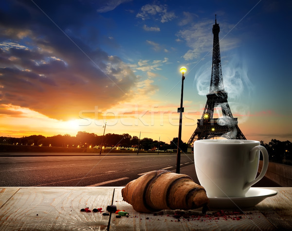 Coffee break in Paris Stock photo © Givaga