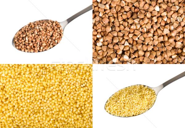 Buckwheat and millet Stock photo © Givaga